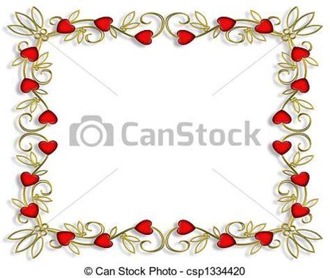cornici cuori archivio illustrazioni di cuori cornice valentina 3d