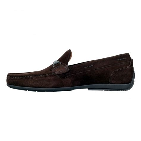 buy mens suede shoes in brown by hugo black