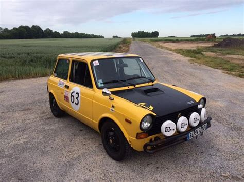Rally Auto Occasion by Autobianchi A112 Rallye Historique Comp 233 Tition Jaune