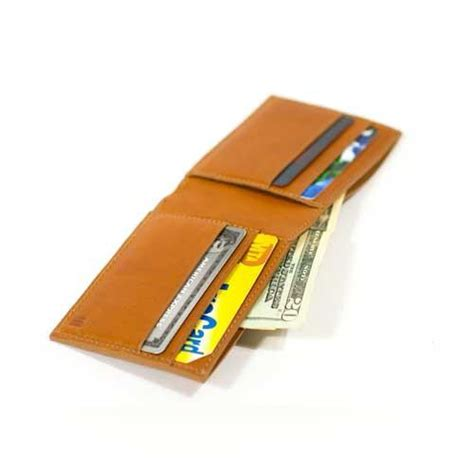 Handcrafted Leather Products - handmade leather bi fold wallet 11 industries