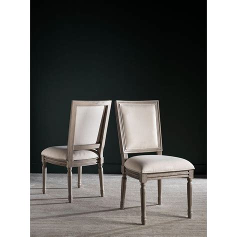 loire country light beige linen safavieh buchanan light beige linen dining chair fox6229h set2 the home depot