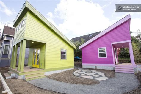 200 sq ft tiny house 200 sq ft pink tiny home in portland or tiny house pins