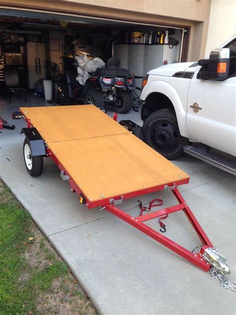 harbor freight 600 lb boat trailer nice folding trailer solves storage and transportation