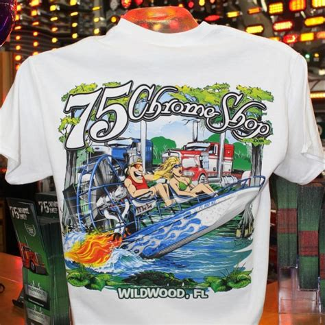 airboat shirts chrome shop airboat t shirt 75 chrome shop