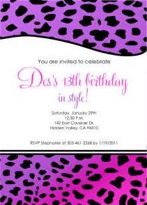 free printable birthday invitation templates for