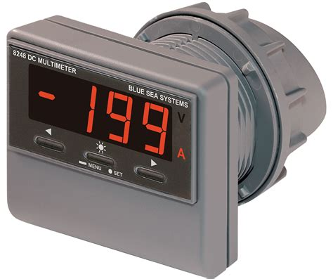 dc digital multi function meter with alarm blue sea systems