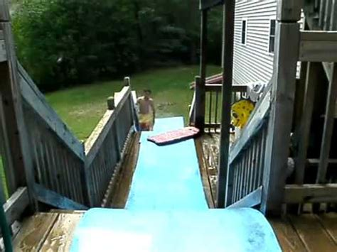 how to build a water slide in your backyard crazy homemade water slide youtube