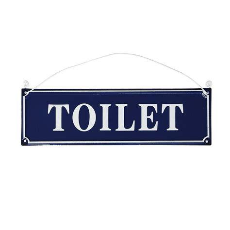Toilet Sign blue metal toilet sign dotcomgiftshop