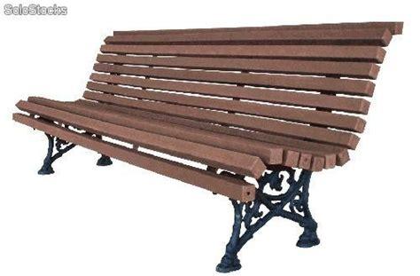 bancos para exterior banco en madera plastica para jardin y exterior
