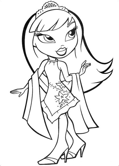 coloring pages bratz dolls free printable coloring pages cool coloring pages bratz