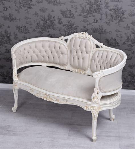 antik sofa samtsofa antik sofa shabby chic bench velvet white rokoko