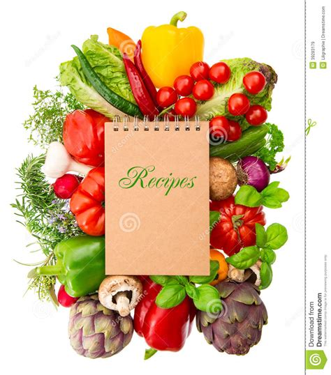 my vegetables my vegetables books recipe book with vegetables and herbs stock photo image