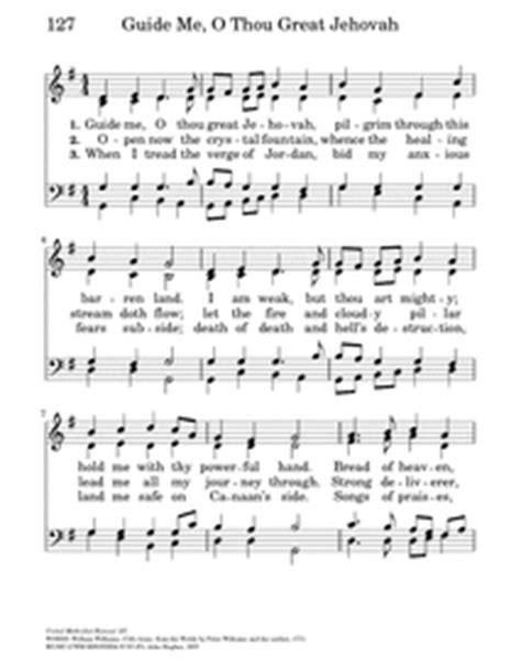 guide me o thou great redeemer wedding hymn guide me o thou great jehovah hymnary org