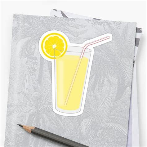 glass  lemonade sticker  debidalio redbubble