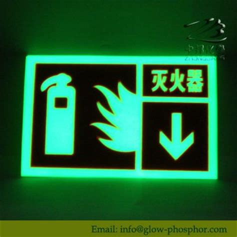 glow in the painted safety signs glowing things