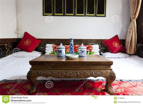 chinesische wohnkultur traditional house interior stock photo image