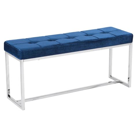 home design furniture synchrony synchrony bench cobalt blue dcg stores