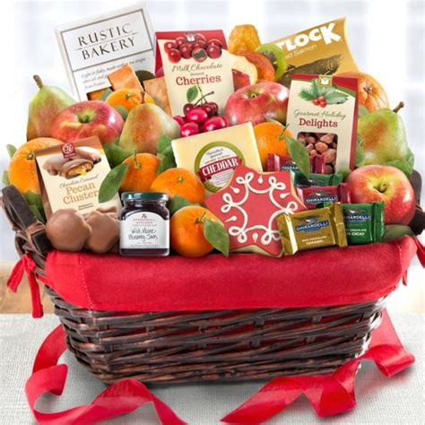 golden state fruit rustic treasures holiday christmas gift basket tidings deluxe gourmet gift basket aa5005 a gift inside