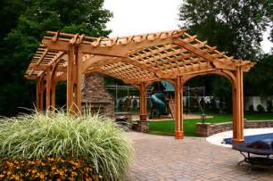 Pergola Post Supports by Pergolas Arbors Trellises Distinctive Garden Structures
