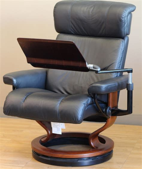 recliner desk stressless recliner personal computer laptop table for