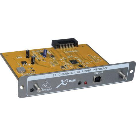 Sound Card Usb Behringer behringer x usb 32 channel usb 2 0 audio interface x usb b h