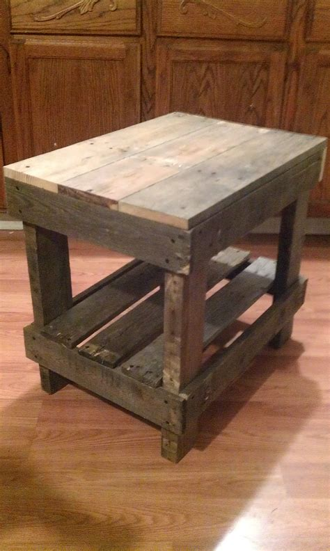 end tables made from pallets pallet wood end table pallet diy the end