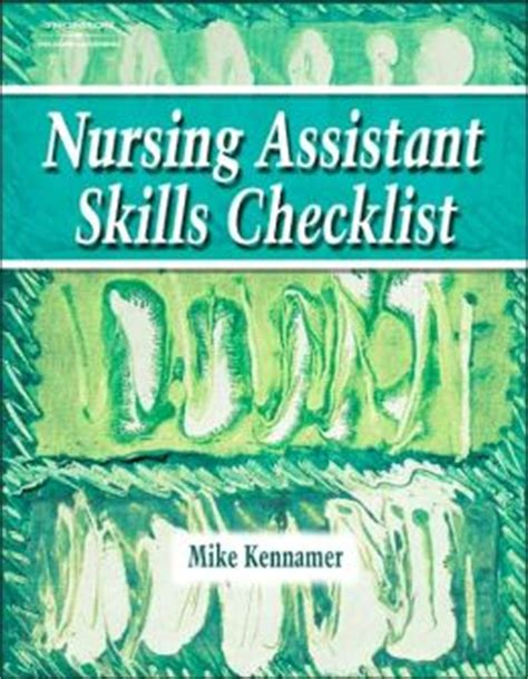 nursing assistant skills checklist edition 1 by cengage