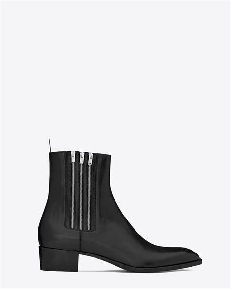 ysl chelsea boots laurent hedi 40 zip chelsea boot in black leather