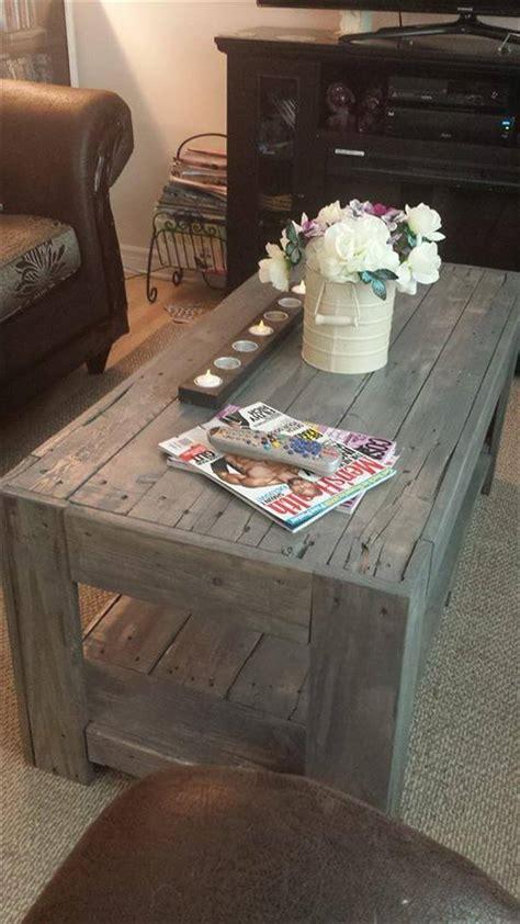 Pallet Coffee Table Ideas Diy Wood Pallet Coffee Table