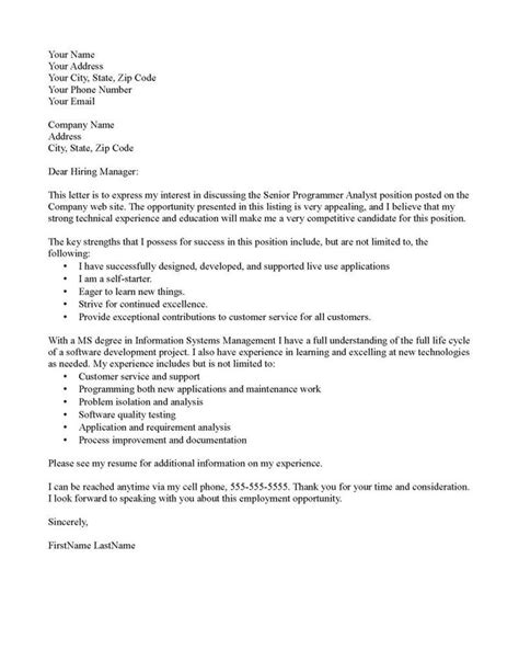 Sle Teaching Cover Letters With No Experience by Cover Letter Management Analyst Buy Research