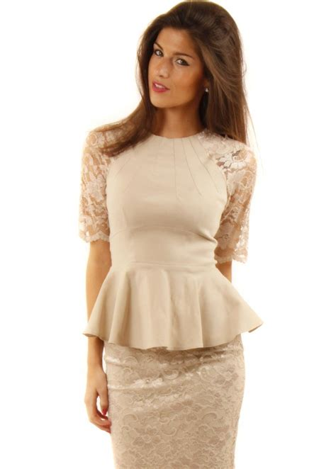 Lace Peplum lace peplum dress with sleeves www pixshark images