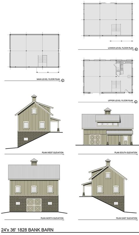 Barn Plans With Living Space by The 1828 Bank Barn Barn Plans Thenorthamericanbarn