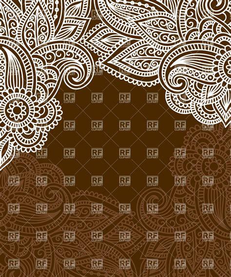 mendi style background indian tracery royalty free background with indian ethnic tracery mendi style border