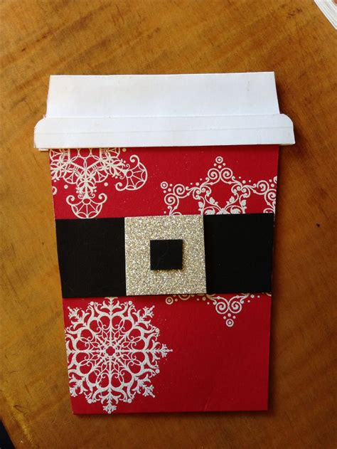 How To Put A Gift Card On Starbucks App - really cute gift card holder can put a christmas starbucks card in it christmas