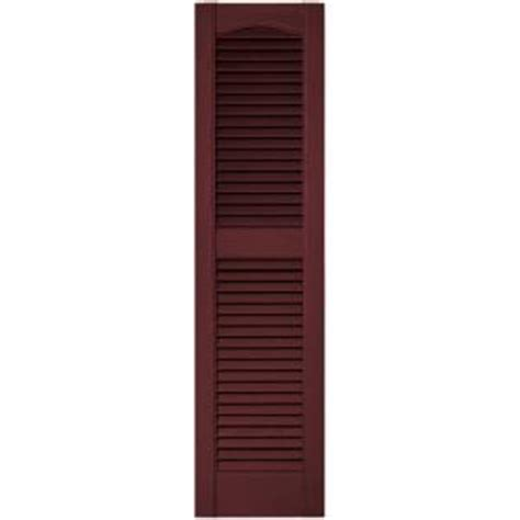 builders edge 12 in x 48 in louvered vinyl exterior