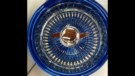 blue wire wheels 13 quot 22 quot