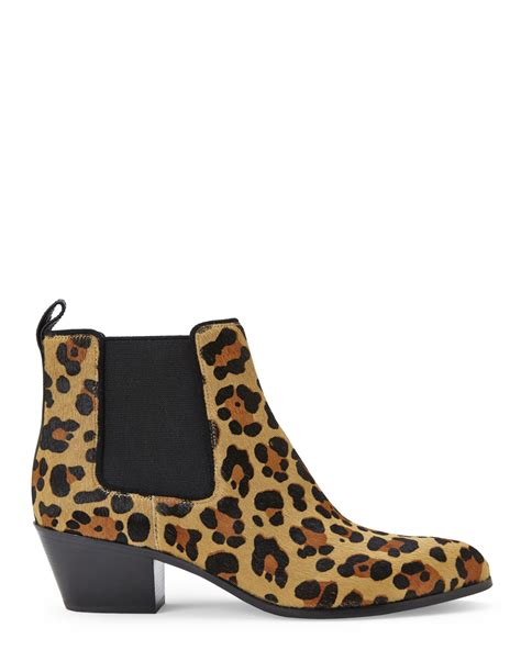 via spiga leopard print ciaran ankle boots in black lyst