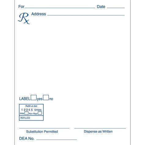 Prescription Pharmacy by Prescription Pad Style 4 Vertical Blue Ink Rx Pads