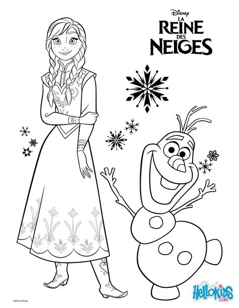 frozen anna and olaf coloring pages okids com frozen www hellokids com print page frozen anna and olaf