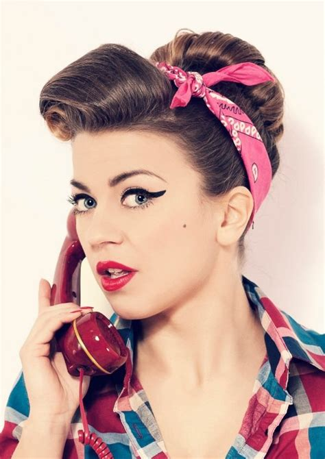 50s Pin Up Hairstyles 50s hairstyles pin up hairstyles