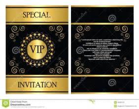 calibre de carte d invitation de vip illustration de