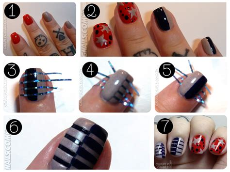 nail art tutorial using tape 40 beautiful nail arts that you can do with nail stripes