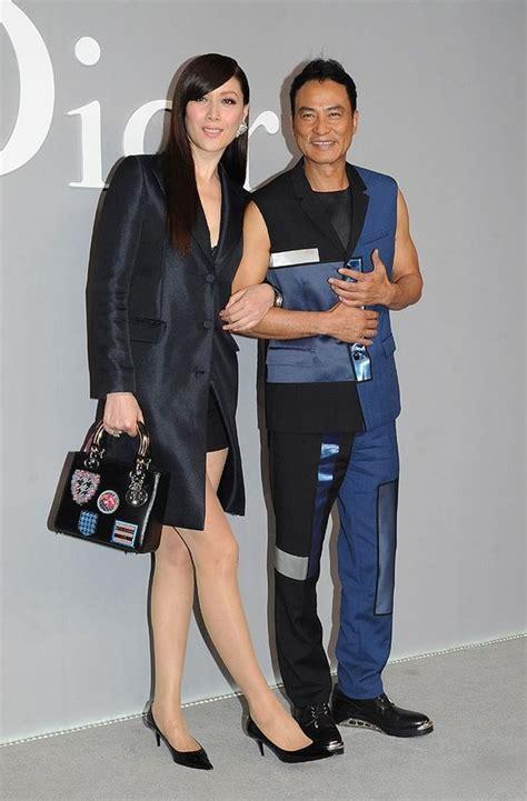 hong kong actor age hong kong actor simon yam right and his model wife