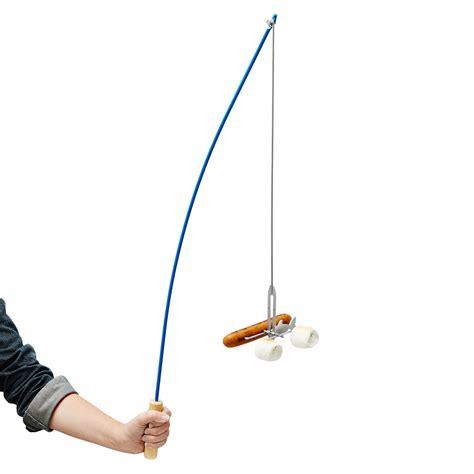 fishing pole campfire roaster marshmallow fishing pole