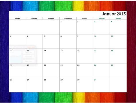 Wochen Kalender 2015 Regenbogen Monatskalender 2015 Office Lernen