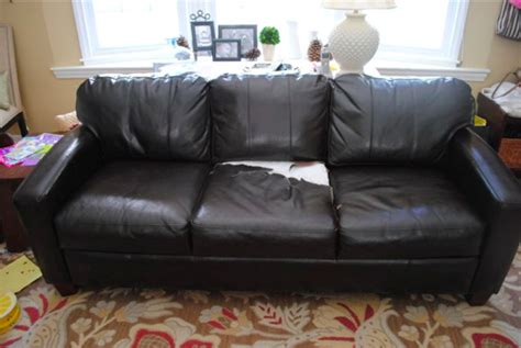 leather sofa recovering bhg style spotters