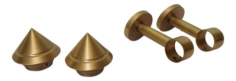 brass drapery hardware german solid brushed brass drapery hardware set of 4