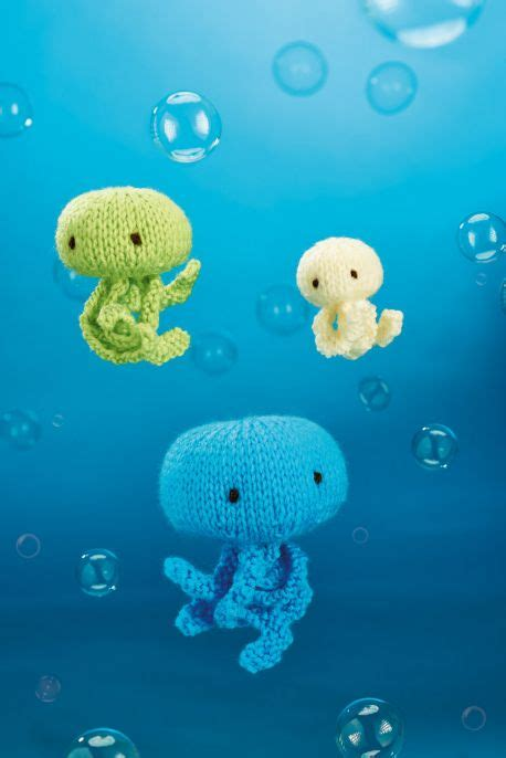jellyfish knitting pattern jellyfish trio free knitting pattern knitting bee