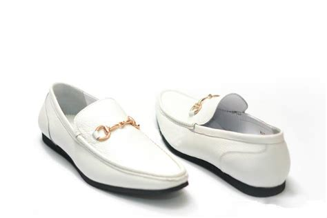 mens loafers white style mens white leather horsebit driving loafers