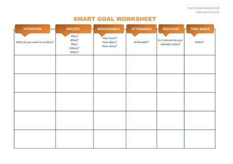 Goals And Objectives Template Excel by Smart Goal Template Peerpex